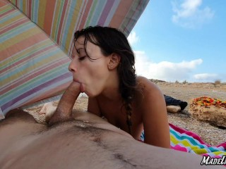 First tinder date ends in a blowjob on the beach and we get caught