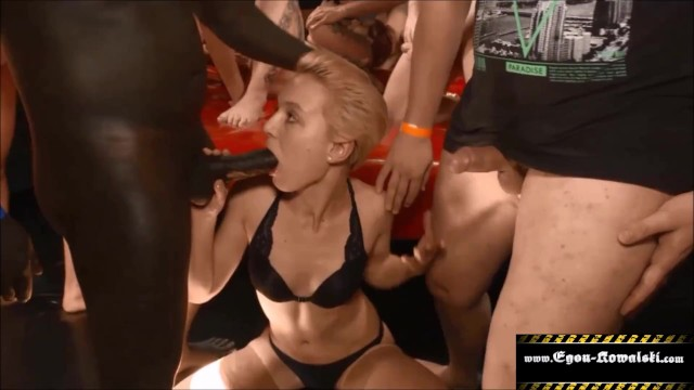 At party 720p gangbanged Teen girl