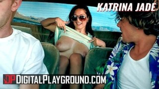 Digital playground - Inked goth Katrina Jade fucks big cock in horor movie parody