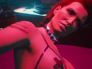 Cyberpunk sex with a blonde in erotic lingerie...