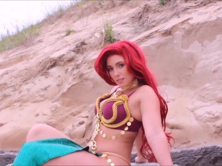Ariel Cosplay Public Striptease Preview - Find the full video on ModelHub!