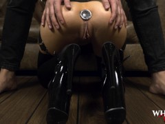 BDSM Hardcore anal sex with big tits having anal orgasm while ass fucked rough -WhornyFilms