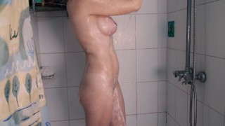 The wife get orgasm from shower head!