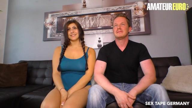 SexTapeGermany - July Johnson Big Tits German Teen First Camera Fuck With Boyfriend - AMATEUREURO 18