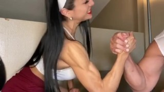 Miss Marcie - The Armwrestling Battle (Full clip on DreamscUmtrue C4S, MV, IWC)