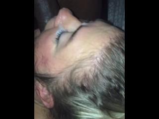 Husband records wife giving rimjob cuckold facial...