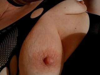 Close up nipple play. Teasing erect nipples. Hard nipples.
