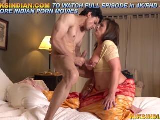 Big tits enjoys son...
