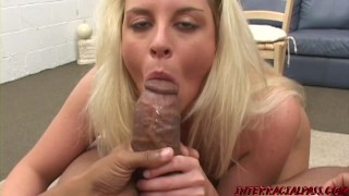 Simone sucks and fucks some monster black cock