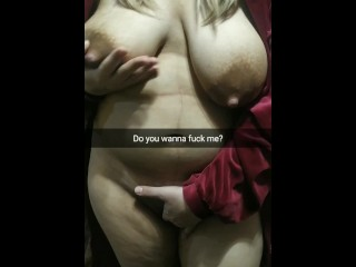 Do you wanna fuck my fertile thicc wife with a huge boobs? She love cum! [Cuckold Snapchat]