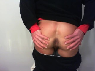 Slapping tight buble ass open...