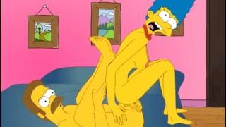 The Simpsons - Marge x Flanders - Cartoon Hentai Game P63