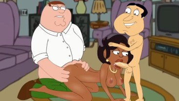 Family Guy Griffin - Donna Threesome With Peter and Quagmire P65