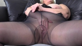 Naughty StepMom Loves Tights and Fishnet stockings and a Wet Pussy Play