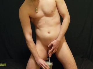 Filthy pig nikk drinks a pint of piss...