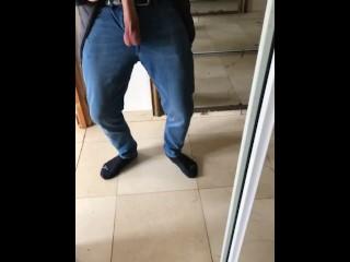 Huge boner out of pants onlyfans frenchlongdong...