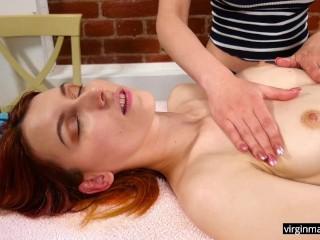 Sexy tits oil massaged...