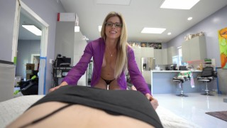 Step Mom Cory Chase Wakes up Step Son with Blowjob Swallow POV 4k