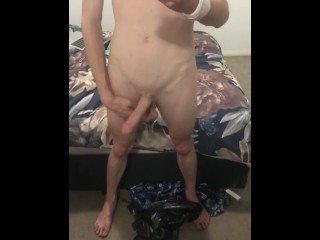 Hot aussie twink showing off body and cock...