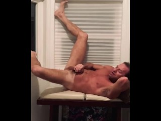Hot jack off legs up the wall...