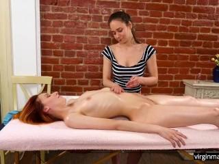 Hot virgin redhead elvira nunah orgasms from...