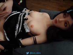 Fucking my cute catgirl sex doll in maid costume Fucking my cute catgirl sex doll in maid costume