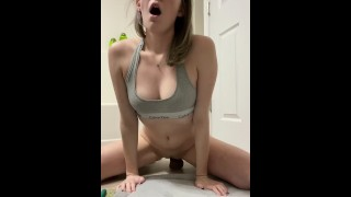 Riding My BB Dildo | Creamy Unedited Footage |