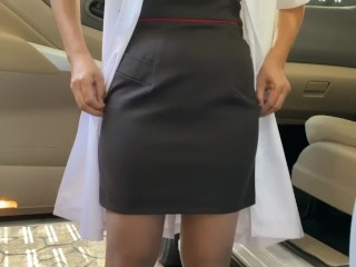 Pissing doctor she pee after come back from...