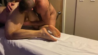 Rugby player gets hard during his massage and one thing leads to another