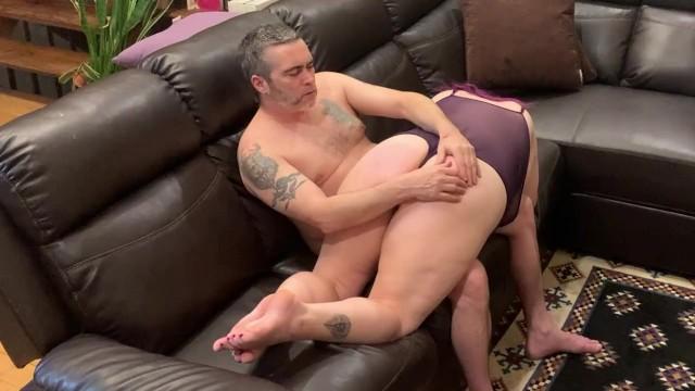 Spanked across his lap bbw chubby milf 4