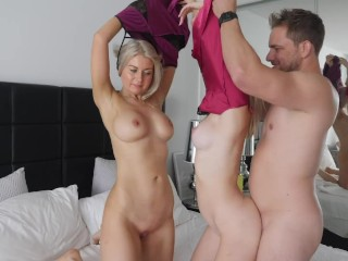 Best Threesome Sex Positions with 2 Hot Blonde's