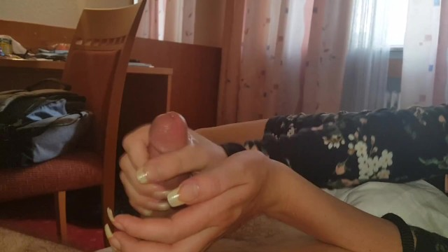 Making Him Cum With My Sexy Hands 17