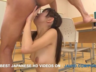 Classroom Japanese sex with a lovely schoolgirl