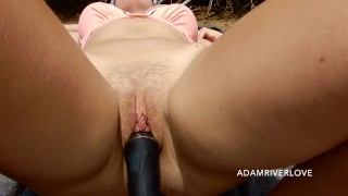 Perfect Body Teen Tanning on the Beach Woken Up by Powerful Wand | O-Surprise POV in Public [HD]
