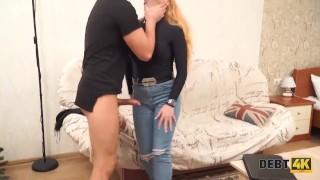 DEBT4k. Graceful ginger chokes on boner because she bought a TV