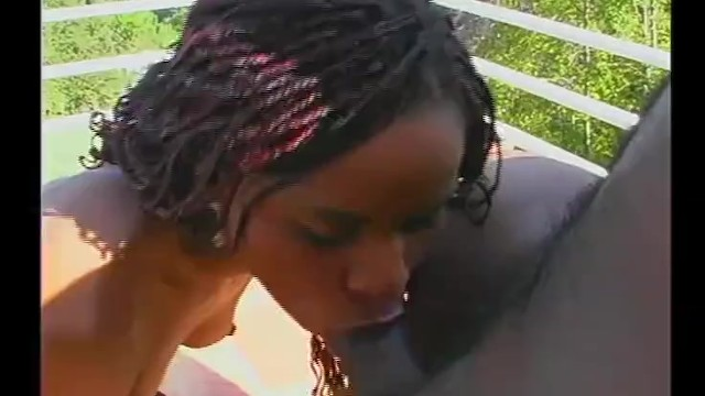 Hot Ebony Loves Getting Cum Facialed by Monster Black Cock 3