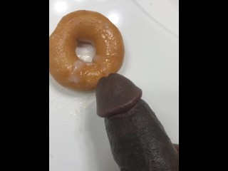 Glazing donuts at work cum goes donut bbc...