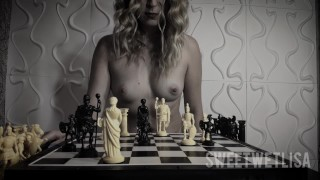 Dildo Gambit (girl ride on dildo and cum on chess board, like Beth Harmon in Queen's Gambit)
