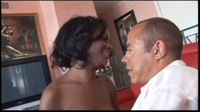 Politician Fucks His Hot Young Ebony Student Girlfriend On The Couch 12