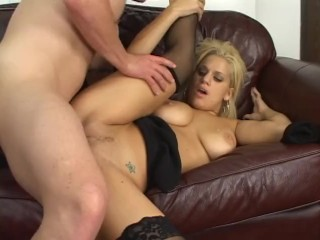 Busty young blonde penetrated...