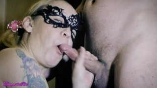 A mouthful of cum. My husband asked me to suck his best friend's cock.