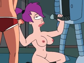 Leela double handjob sex p77...