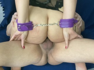 Handcuffed pawg trains and grools a huge cumshot...