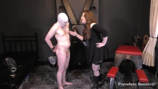 Spitting In His Face - Humiliating His Tiny Cock & Made To Lick My Boots