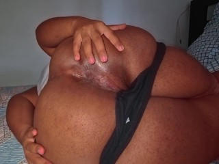 Horny milf showing you all her holes...