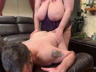 Hubby face down cock...