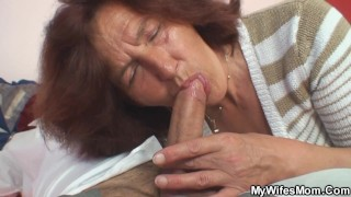 My girlfriends mommy riding dick when alone