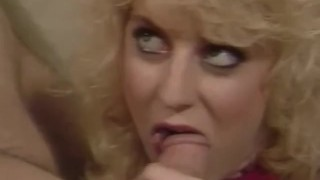 Vintage Blonde MILF Goes Cock Wild For Couple Doing It