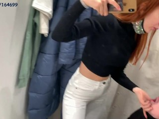 Humiliation and spitting with petite princess jeans...