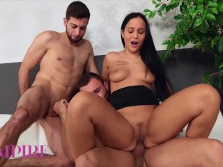 Bi-Empire – Hot And Crazy Threesome Sex Between Jennifer Mendez, Brad And Vito